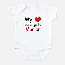 My heart belongs to marlon Infant Bodysuit