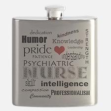 Psychiatric Nurse Pride/Attributes+Red Heart Flask