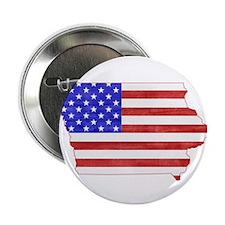 """Iowa Flag 2.25"""" Button"""