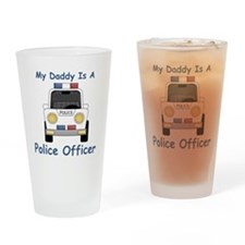 My Daddy is a Police Officer Drinking Glass