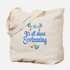 About Swimming Tote Bag