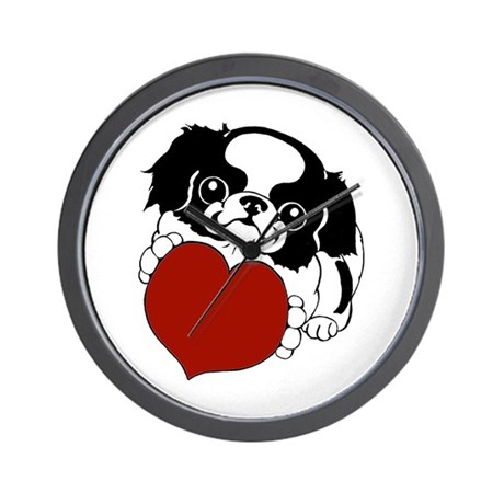 Japanese Chin Heart Wall Clock