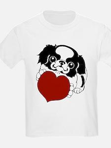 Japanese Chin Heart Kids T-Shirt