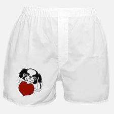 Japanese Chin Heart Boxer Shorts