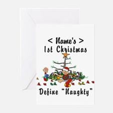 Personalized 1st Christmas (Name) Greeting Cards (