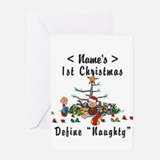Personalized 1st Christmas (Name) Greeting Card