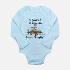 Personalized 1st Christmas (Name) Long Sleeve Infa