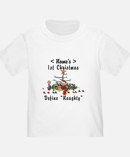 Personalized 1st Christmas (Name) T
