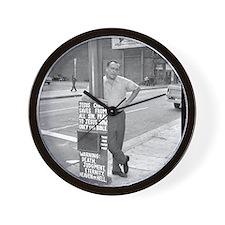 BUKOWSKI BY SAM CHERRY Wall Clock