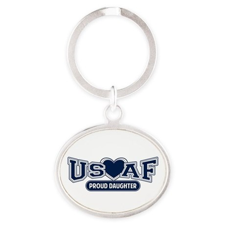 Air Force Daughter Oval Keychain