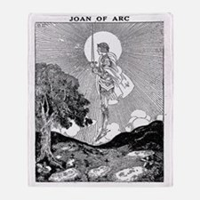 joanofarc Throw Blanket