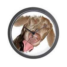 Silly Weimaraner Wall Clock