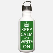 writeonnotebookkellygr Water Bottle