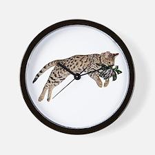 Cat Leap - Wall Clock