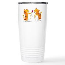two tigers rose Travel Mug