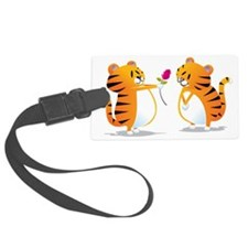 two tigers rose Luggage Tag
