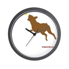 Tri Harder Three Legged Boxer Black Wall Clock