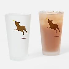 Tri Harder Three Legged Boxer Black Drinking Glass