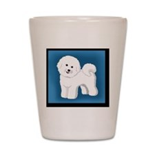 Smiling Bichon Shot Glass