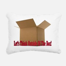 Lets think outside the b Rectangular Canvas Pillow