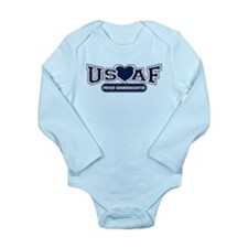 Air Force Granddaughter Long Sleeve Infant Bodysui