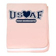 Air Force Granddaughter baby blanket