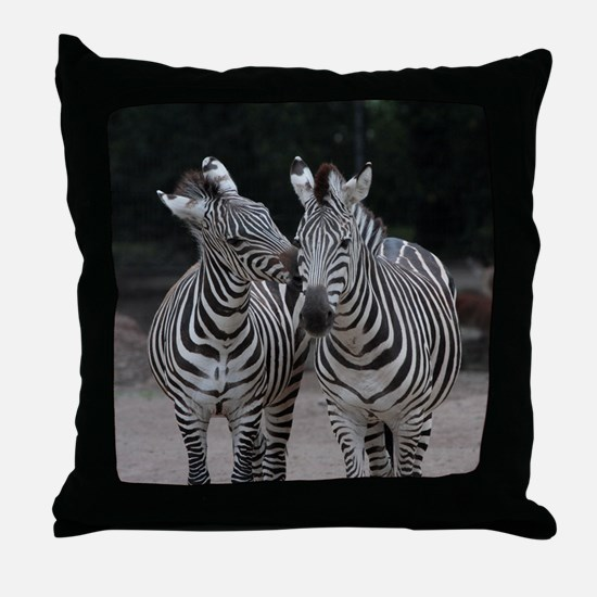 Zebra005 Throw Pillow