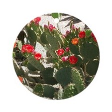 colorful cactus flowers Round Ornament