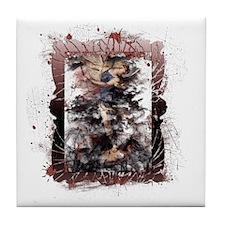 Defeat the Devil (black) Tile Coaster
