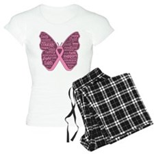 Butterfly Breast Cancer Ribbon Pajamas