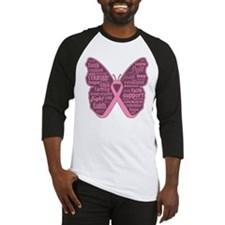 Butterfly Breast Cancer Ribbon Baseball Jersey