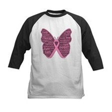 Butterfly Breast Cancer Ribbon Tee