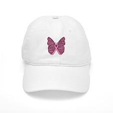 Butterfly Breast Cancer Ribbon Baseball Cap