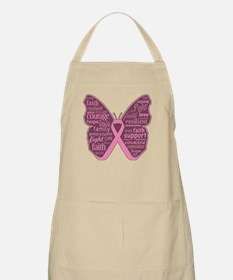Butterfly Breast Cancer Ribbon Apron