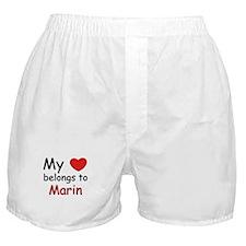 My heart belongs to marin Boxer Shorts