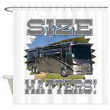 Size Matters Class A Motorhome Shower Curtain