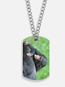 Chimpanzee005 Dog Tags