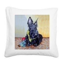 Scottish Terrier MacGregor Square Canvas Pillow