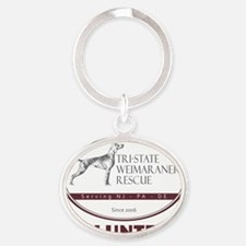 TSWR_logo_2011volunteerblockMED Oval Keychain