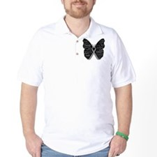 Butterfly Brain Cancer Ribbon T-Shirt