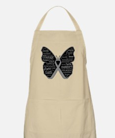 Butterfly Brain Cancer Ribbon Apron