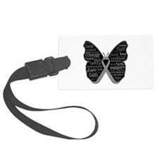 Butterfly Brain Cancer Ribbon Luggage Tag