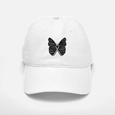 Butterfly Brain Cancer Ribbon Baseball Baseball Cap