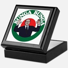 berlusconi bunga bunga-rgb Keepsake Box