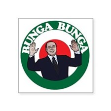 "berlusconi bunga bunga-rgb Square Sticker 3"" x 3"""