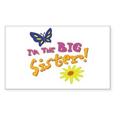 Big Sister Rectangle Decal