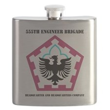 555 ENGINEER BRIGADE HQ AND HQ COY WITH TEXT Flask