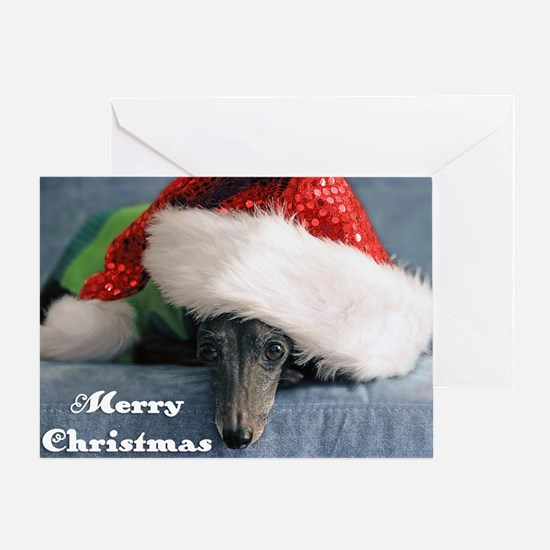 Italian Greyhound Merry Christmas Greeting Cards
