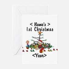 Personalize 1st Christmas Greeting Cards (Pk of 10