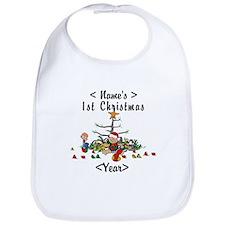 Personalize 1st Christmas Bib